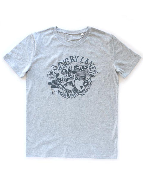 Engine Grey T-shirt - ANGRY LANE