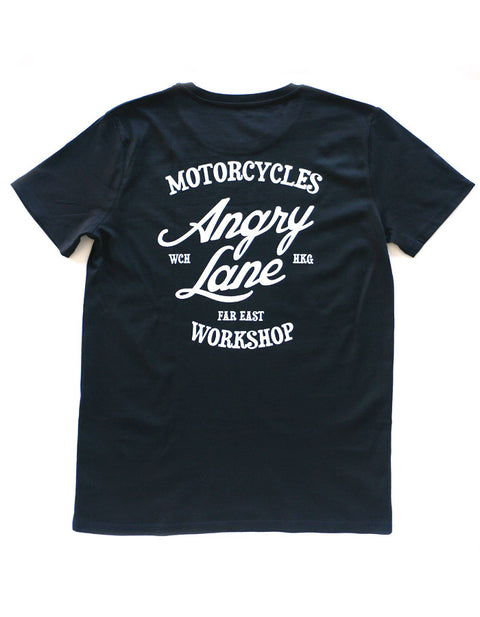 Crew Black T-shirt - ANGRY LANE