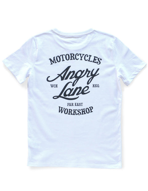 Crew White T-shirt - ANGRY LANE