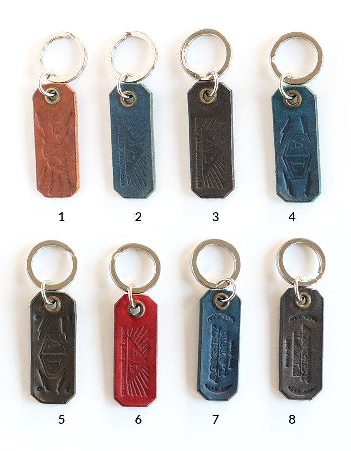 Leather keychain - ANGRY LANE