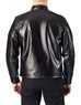 ENDURANCE - Leather Cafe Racer Jacket - ANGRY LANE