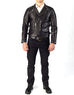 RACER - Leather Biker Jacket - ANGRY LANE