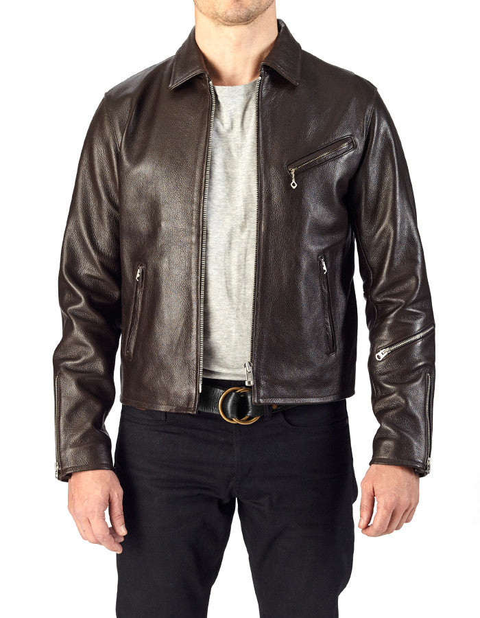 SHIFTER - Leather Blouson Jacket - ANGRY LANE