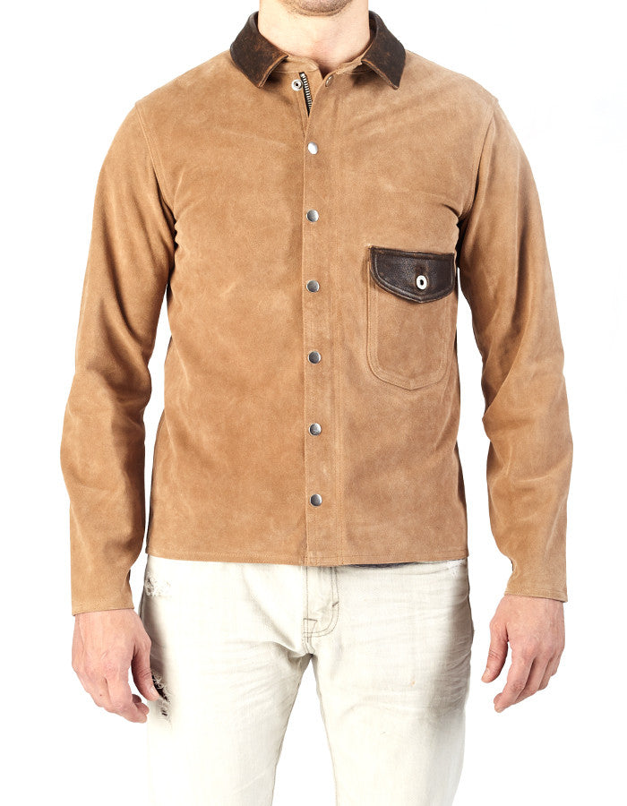 Welder Calf Suede Shirt Angry Lane