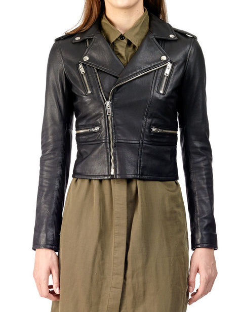 Birdy Cropped French Lambskin Jacket