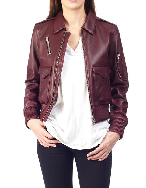 PAPPY BOMBER - Aviator Leather Jacket - ANGRY LANE