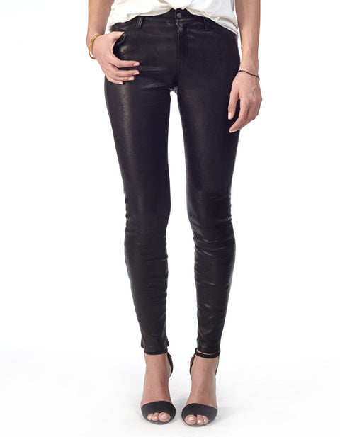 Gigi Skinny Stretch Lambskin Leather Pants