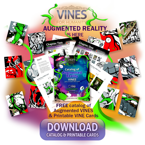 FREE Catalog of augmented reality cards form VINES for Humanity Puzzle Card Game