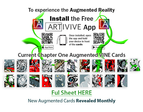 List of augmented reality vine cards