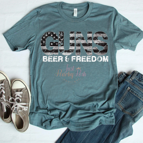 Guns, Beer & Freedom Tee