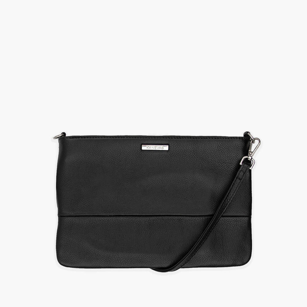 Chloe ultra from Kanevas; genuine leather ; black ; silver hardware