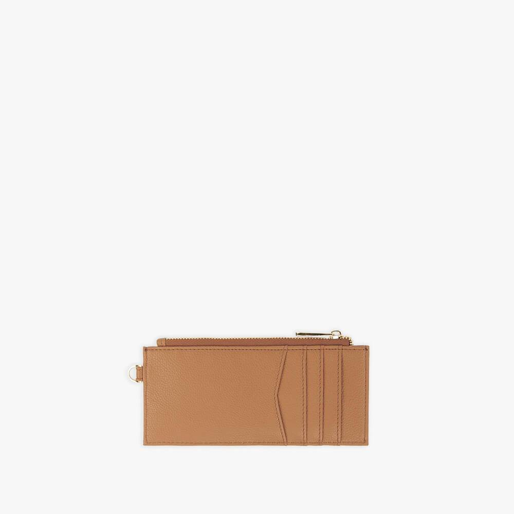Brown vegan leather wallet from Kanevas with pockets for cards