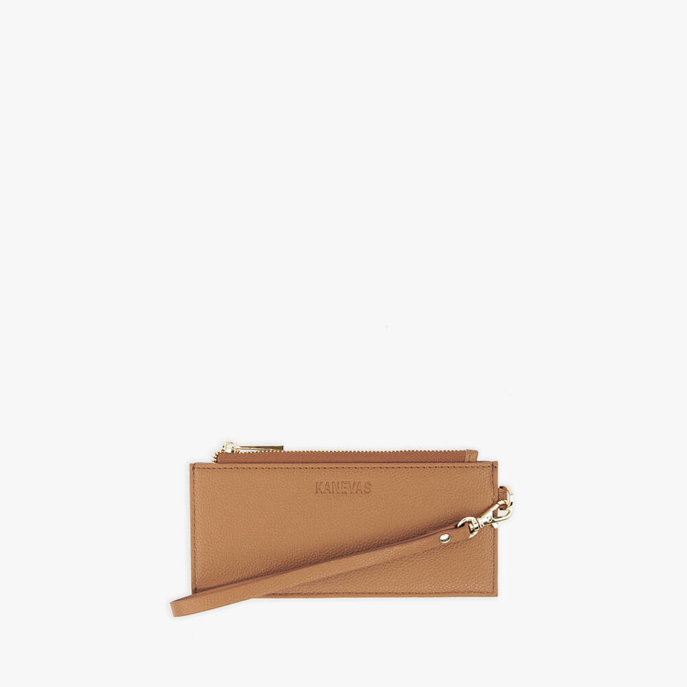 Brown vegan leather wallet from Kanevas