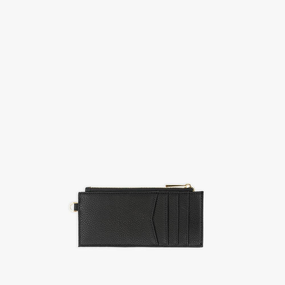 Black vegan leather wallet from Kanevas with pockets for cards