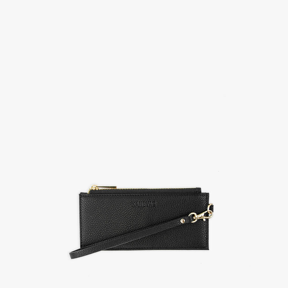 Black vegan leather wallet from Kanevas