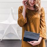 chloe midi | inca and dark blue