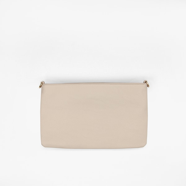 flap bag<br/>taupe pocket in vegan leather