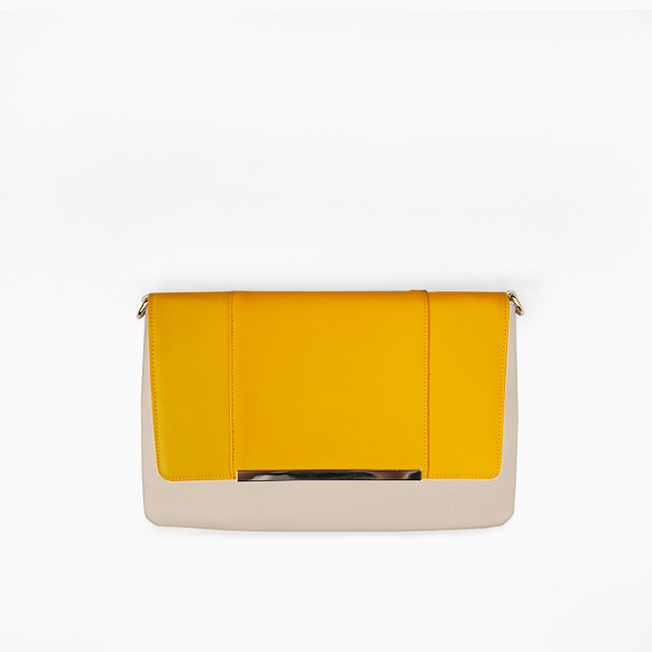 flap bag | yellow flap