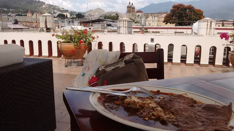 Mole sauce is the specialty of Oaxaca. They serve it on meat, enchiladas and many other things