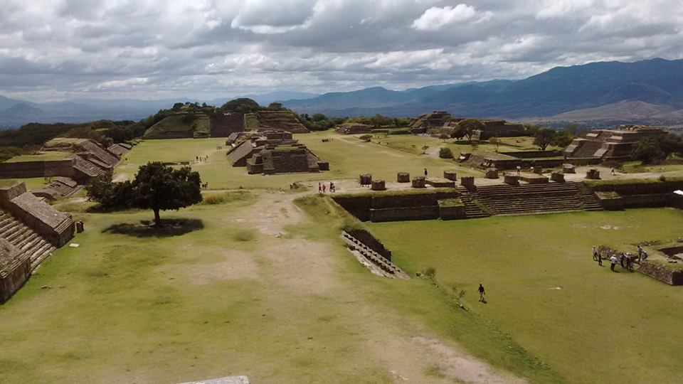 The archeological zone of Monte Alban close to Oaxaca, an amazing site on top of a hill overlooking the whole Oaxacan valley