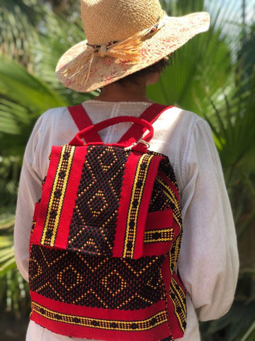 2 pocket backpack made in Oaxaca for everyday use and college students
