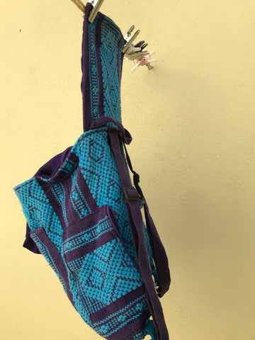 This shows how to hang your wet backpack to let it dry