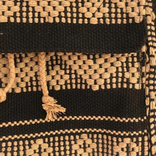 Load image into Gallery viewer, Black and camel colors for this 5 pocket backpack hand woven in Oaxaca, Mexico