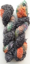 "Load image into Gallery viewer, ""Butterfly Nebula"" Mohair/Viscose/Merino Blend Hand Dyed Yarn"