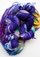 "Load image into Gallery viewer, ""The Iris Conjunction"" 75/25 Merino and Nylon Hand Dyed Yarn"