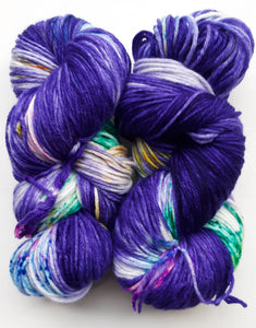 """The Iris Conjunction"" 75/25 Merino and Nylon Hand Dyed Yarn"