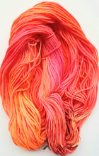 "Load image into Gallery viewer, ""Coral POP"" 100% Merino Hand Dyed Wool Yarn"