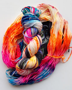 """Escape Velocity"" Merino Wool Hand Dyed Yarn"