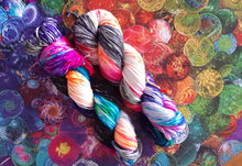 "Load image into Gallery viewer, ""Escape Velocity"" Merino Wool Hand Dyed Yarn"