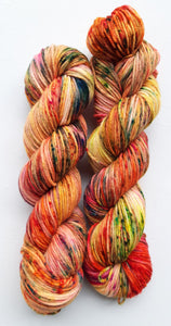 """Flame"" 100% Merino Wool Hand Dyed Yarn"