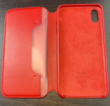 Load image into Gallery viewer, iPhone XS Max Leather Folio - (PRODUCT)RED