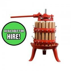 Apple (Cider) Press - For Hire - 12 Litre