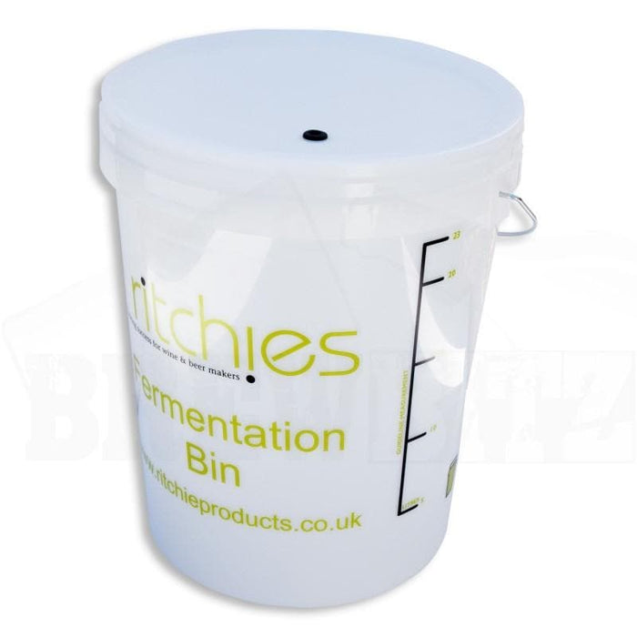 25 Litre Ritchies Fermentation Bucket + Lid & Grommet for an Airlock