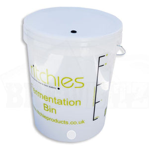 25 Litre Ritchies Fermentation Bucket with Hole for Tap + Lid with Grommet for Airlock