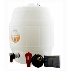 "5 Gallon White Keg Barrel - 2"" Cap with CO2 Injector System"