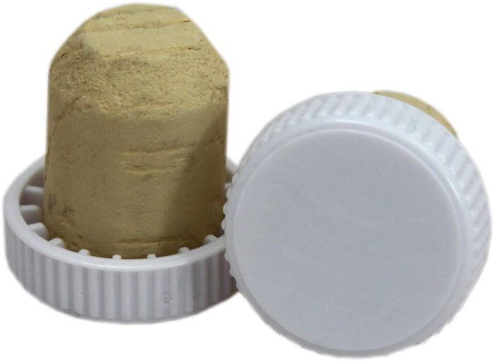 Plastic Topped Corks - White - 30 Pack