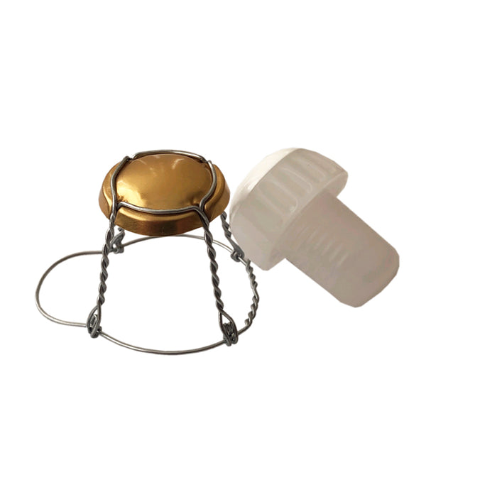 Champagne Cages & Stoppers (corks) - 10 Pack