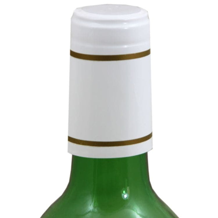 Wine Bottle Shrink Capsules White and Gold 30 Pack