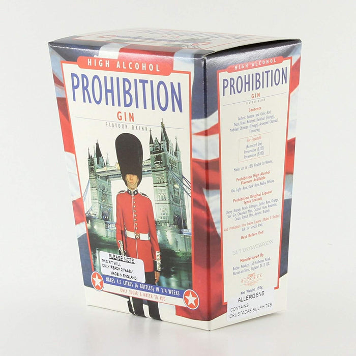 Gin Flavour - Prohibition High Alcohol Spirit Kit - Original