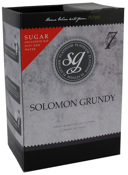 Solomon Grundy Platinum - Sauvignon Blanc - 30 Bottle White Wine Kit