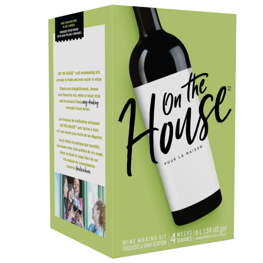 On The House - Merlot - 30 Bottle Red Wine Kit