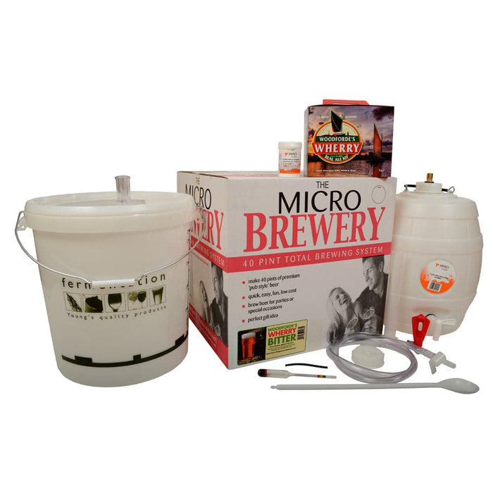 Micro Brewery Starter Kit with Woodfordes Wherry Real Ale Beer Kit