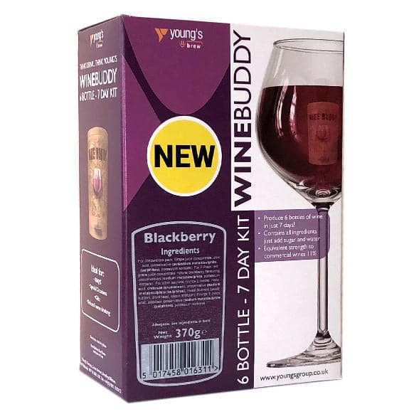 WineBuddy - Blackberry Wine - 7 Day Wine Kit - 6 Bottles