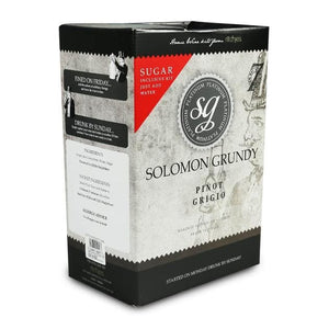 Solomon Grundy Platinum - Pinot Grigio - 30 Bottle Wine Kit