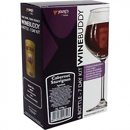 WineBuddy - Cabernet Sauvignon - 7 Day Wine Kit - 6 Bottles