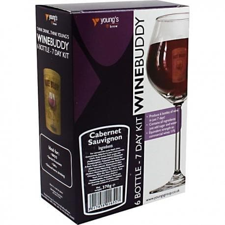 WineBuddy - Cabernet Sauvignon - 7 Day Red Wine Kit - 6 Bottles